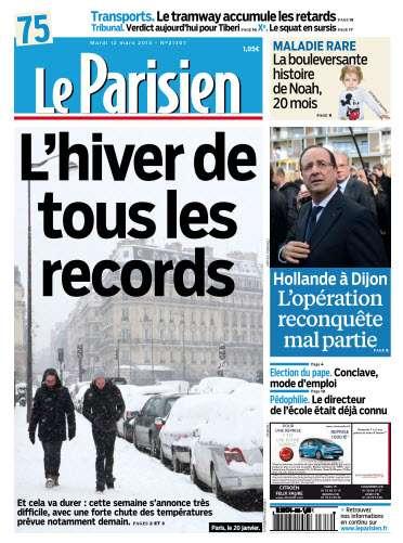 Le Parisien Mardi 12 Mars 2013